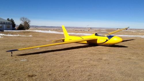 CSA Schweizer 2-32 ready togo on a brisk winter day