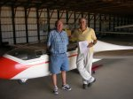 HowieCFI2011.JPG - <p>Howie S get his CFI-G from Bob E - August 2011</p>