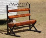 Racine Bench2 Aug 2010.jpg - <p>Racine's OCGP custom bench finds a home. Aug 2010</p>