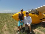 NoelH 10062503.jpg - <p>Noel H and her first instructor Bill C - June 2010</p>