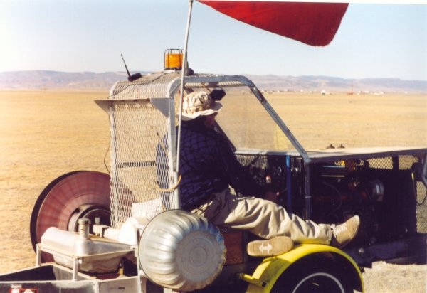 Frank W. Operating the Winch